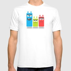 Friends MEDIUM White Mens Fitted Tee