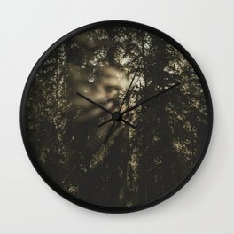 Sunset in the Woods - Nature Photography Wall Clock