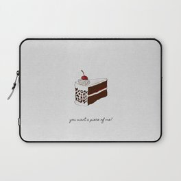 You Want A Piece of Me? Cake Illustration Laptop Sleeve