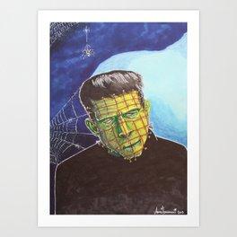 Franken-Pin Art Print