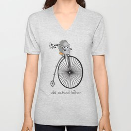 old school biker Unisex V-Neck