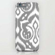 Ikat Damask Gray Slim Case iPhone 6