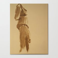 Shy Bikini Canvas Print