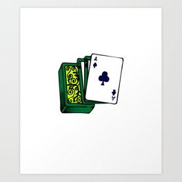 Nurses Stack the Deck for You nurses playing cards Copy Copy Art Print