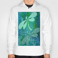dragonfly Hoodies featuring Dragonfly  by Saundra Myles