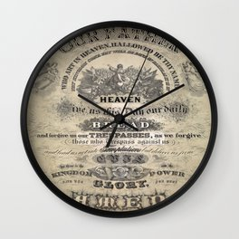 Our Father Wall Clock
