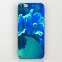Textured Forget Me Nots  iPhone Skin