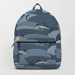 Swordfish Espadon | Pattern Art Backpack