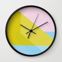 80s West Coast Colors Wall Clock