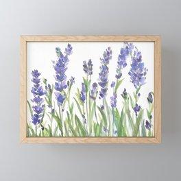 lavender garden watercolor Framed Mini Art Print