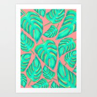 palms Art Prints featuring Palms by Anika Kirk