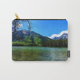 Mountain range and Lake Lee, Wyoming Carry-All Pouch