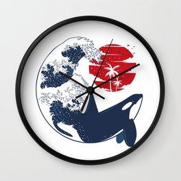Wave Killer Whale Wall Clock