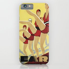 retro reard   le maillot de bain de lélite  iPhone Case