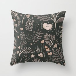 Jungle Drum Saumon Throw Pillow