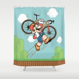 Super Cyclocross Shower Curtain