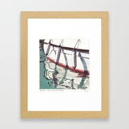 Reflets et Bouées Framed Art Print