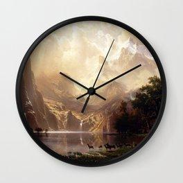 Albert Bierstadt - Among the Sierra Nevada, California Wall Clock
