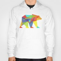 rainbow Hoodies featuring Fractal Geometric bear by Picomodi