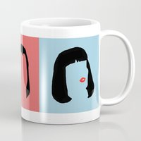 pulp fiction Mugs featuring Pulp Fiction by Qc Illustrations