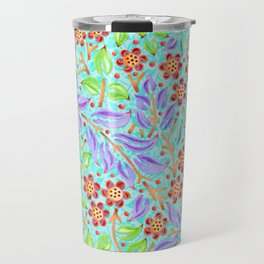 Caribbean Filigree Floral Travel Mug