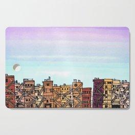 New York Purple Sky Cutting Board