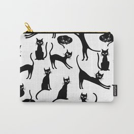 Black cats, seamless patten Carry-All Pouch