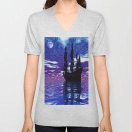 Moon Voyager Unisex V-Neck