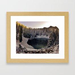 Wagonwheel Lake Frozen Framed Art Print