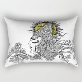 Shiva Moon Rectangular Pillow