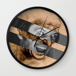 Leonardo da Vinci's Head for The Battle of Anghiari & Jack Nicholson Canvas Wall Clock