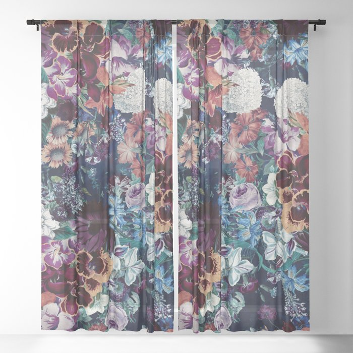 EXOTIC GARDEN - NIGHT XVI Sheer Curtain