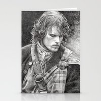outlander Stationery Cards featuring James Fraser by ellaine