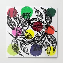pom pom plant Metal Print