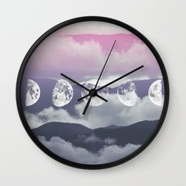 Pink Moontime Wall Clock