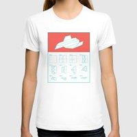 plain T-shirts featuring Paper Plain  by Astronutlab
