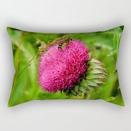 The thistle and a fly Rectangular Pillow