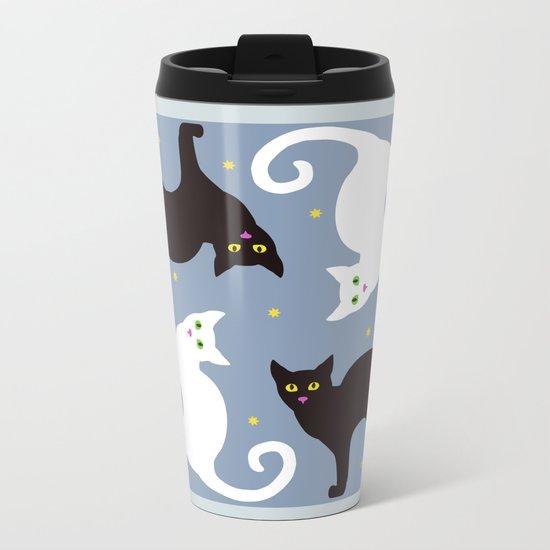 Cat Quartet Metal Travel Mug