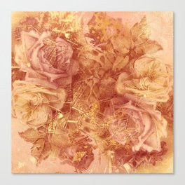 roses and gold Canvas Print