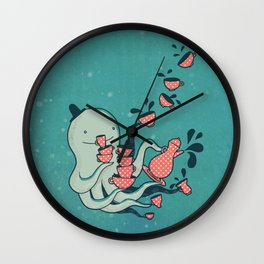 Tea & Tentacles Wall Clock