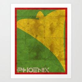 Minimalist Phoenix Art Print