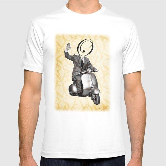 Mr O on his vespa T-shirt