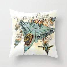 Tyrannosquadron Rex! Throw Pillow