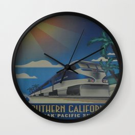 Vintage poster - Southern California Wall Clock