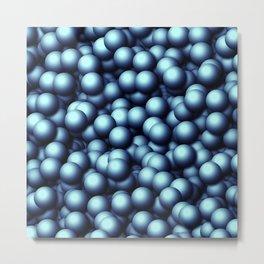 Creamy Bubbles,blue Metal Print