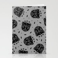 black cat Stationery Cards featuring BLACK CAT by LordofMasks