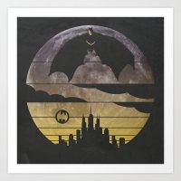 bat Art Prints featuring Bat by Kody Christian