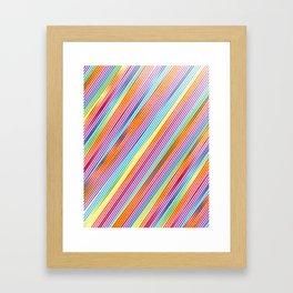 Colorful stripes pattern Framed Art Print