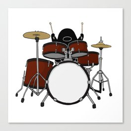 Playing The Drums Canvas Print