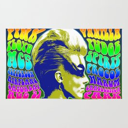 Psychedelic Music Festival Poster II Rug